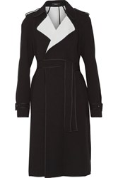 Theory Laurelwood Crepe Trench Coat Black