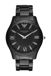 Emporio Armani Men's Ceramic Bracelet Watch Black