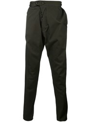 Vivienne Westwood Man Draped Chino Trousers Green