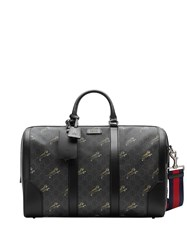 Gucci Logo Print Duffel Bag Black