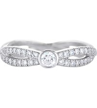De Beers Infinity White Gold And Solitaire Diamond Ring