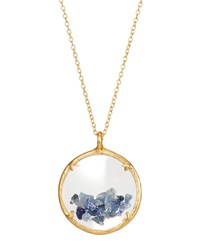 Catherine Weitzman Shaker Birthstone Pendant Necklace Blue