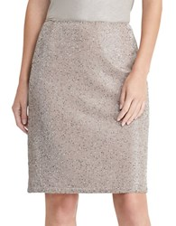 Lauren Ralph Lauren Beaded Pencil Skirt Truffle