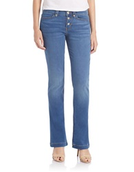 Dittos Button Front Flare Jeans Blue