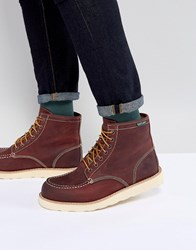 Eastland Lumber Up Leather Boots In Oxblood Red