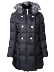 Loveless Padded Hooded Coat Black