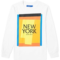 Know Wave Long Sleeve New York Cut Outs Tee White