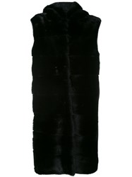 Liska Biscottie Coat Women Mink Fur Wool S Black