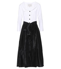 Carolina Herrera Cotton Blend Dress Black