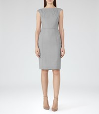 Reiss Kent Dress Womens Tailored Dress In Grey
