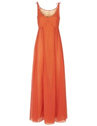 Morv Burnt Orange Shoulder Tie Dress