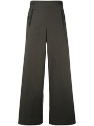 Sacai Pleated Insert Trousers Green