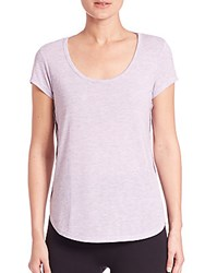 Alo Yoga Camilla Short Sleeve Top Lavender