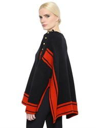 Alexander Mcqueen Oversize Two Tone Cashmere Knit Sweater