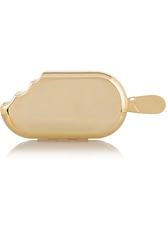 House Of Holland Ice Cream Metallic Brass Clutch