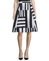 Kate Spade Striped A Line Midi Skirt Women's Neutral Multi
