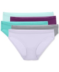 Fruit Of The Loom Everlight Stretch 5 Pk. Bikini 5Delpbk Aquadelic Plum Noir Blue Pond Tiffany Silver W
