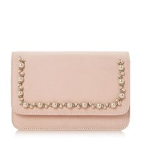 Head Over Heels Benitta Pearl Trim Clutch Bag Nude