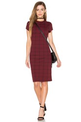 Bishop Young Ellie Plaid Mini Dress Red