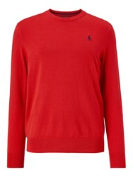 Ralph Lauren Polo Golf By Merino Wool Jumper Orangey Red