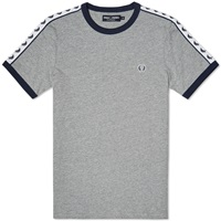 Fred Perry Taped Retro Ringer Tee Steel Marl