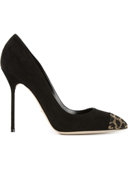 Sergio Rossi Beaded Pumps Black