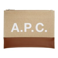 A.P.C. Beige And Brown Axel Pouch