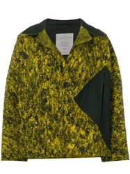 Yohji Yamamoto Vintage Abstract Pattern Boxy Jacket Yellow