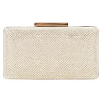 Oasis Glitterbox Clutch Bag Gold