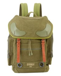 Givenchy Rider Men's Canvas Backpack Khaki
