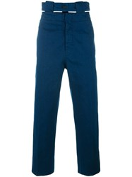 Marni Belted Straight Leg Jeans Blue