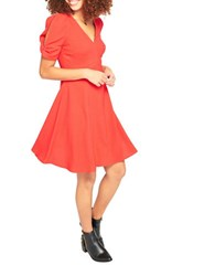 Miss Selfridge A Line Bow Sleeve Dress Red