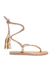 L Space Gili Wrap Sandal Metallic Gold