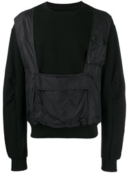 D.Gnak Vest Layered Sweatshirt Black