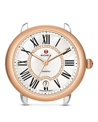 Michele Serein 16 Two Tone Diamond Dial Watch Head 36 X 34Mm Two Tone Rose Gold