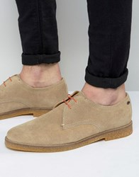 Base London Whitlock Suede Derby Shoes Beige