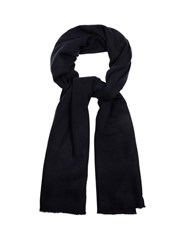 Denis Colomb Travel Cashmere Scarf Navy