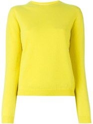 Jil Sander Crew Neck Sweater Yellow And Orange