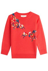 Vanessa Bruno Athe Embroidered Pullover With Wool Red