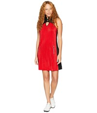 Jamie Sadock Crunchy Sleeveless Dress With Panty Joy Ride Red