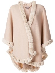 N.Peal Trim Detailed Cape Nude And Neutrals