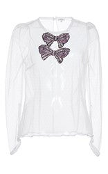 Manoush Shiny Bow Top White