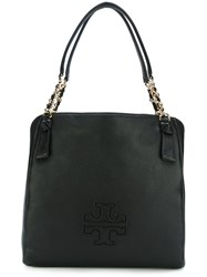 Tory Burch 'Harper' Center Zip Tote Black