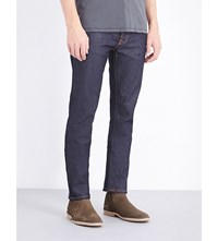 Nudie Jeans Grim Tim Regular Fit Straight Leg Dry Open Navy