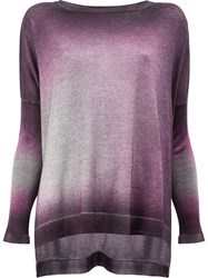 Avant Toi Washed Effect Knitted Top Pink And Purple