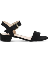 Office Morgan Faux Suede Block Heel Sandals Black