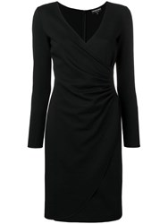 Emporio Armani Wrap Front Dress Black