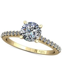 Macy's Diamond Cathedral Mount Setting 1 5 Ct. T.W. In 14K Gold Yellow Gold