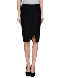 Cedric Charlier Cedric Charlier Knee Length Skirts Black