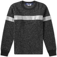 Junya Watanabe Man Reflective Taped Knit Black